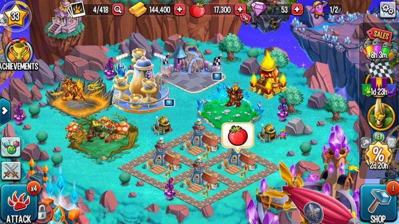 لعبة dragon city مهكره