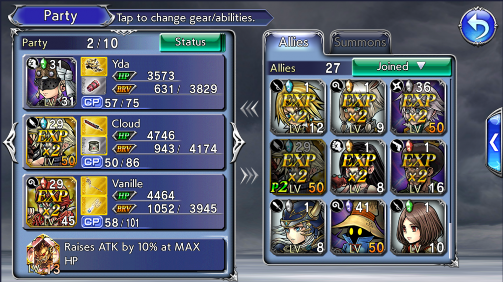 Best dissidia final fantasy opera omnia guide top tips and tricks when i first played the game i would invest in more than 6 characters at any given time as a result i didnt have a strong roster as my resources were fandeluxe Choice Image