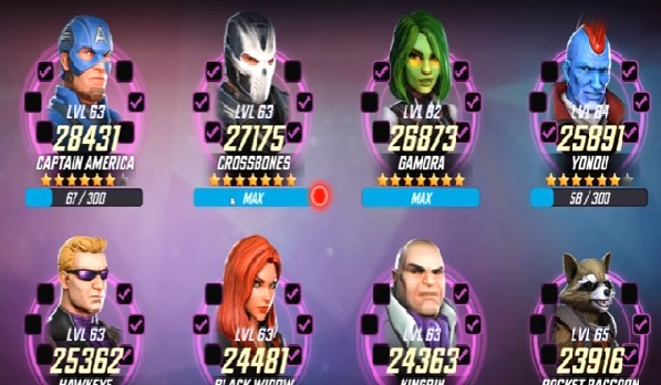 [Top 10] Best Marvel Strike Force Characters Aug 2018